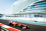 Fernando Alonso of Spain and Scuderia Ferrari drives during the Abu Dhabi Formula One Grand Prix 2013 at the Yas Marina Circuit on November 3, 2013 in Abu Dhabi, United Arab Emirates. Photo by Victor Fraile / The Power of Sport Images