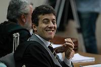 Calcio 64 indagati per false fatturazioni e truffa tra le societa  indagate dalla procura di Napoli ci sono la juventus il Milan ed il Napoli <br /> nella foto il Pm Stefano Capuano in una foto di archivio  durante un Udienza del processo Calciopoli