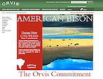 Nelson Kenter photo of a bison herd used by Orvis to promote preservation of bison wintering grounds