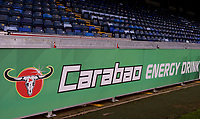 Carabao Cup signage during the Carabao Cup match between Wycombe Wanderers and Fulham at Adams Park, High Wycombe, England on 8 August 2017. Photo by Alan  Stanford / PRiME Media Images.