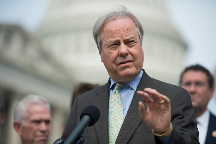 UNITED STATES - SEPTEMBER 26: Rep. Ed Whitfield, R-Ky., speaks at the House Triangle during Coal Caucus' news conference on the EPA's recently proposed greenhouse gas standards for new power plants on Thursday, Sept. 26, 2013. (Photo By Bill Clark/CQ Roll Call)
