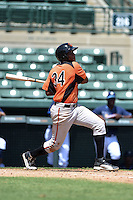 Baltimore Orioles outfielder Randolph Gassaway (34) during an Instructional League game against the Tampa Bay Rays on September 15, 2014 at Ed Smith Stadium in Sarasota, Florida.  (Mike Janes/Four Seam Images)