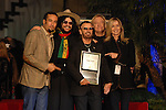US musician Ben Harper, Don Was, Ringo Starr, Joe Walsh and Barbara Bach pose as UK musician Ringo Starr was honored with the 2,401st Star on the Hollywood Walk of Fame in Los Angeles, California 08 February 2010. The former Beatle was joined by his wife Barbara Bach, Joe Walsh, Ben Harper and Don Was. This Monday evening ceremony also marked the 50th anniversary of groundbreaking on the sidewalk attraction..Photo by Nina Prommer/Milestone Photo