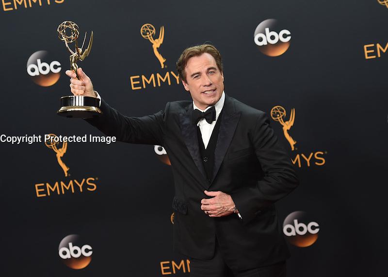 John Travolta @ the 2016 Emmy Awards held @ the Microsoft theatre. September 18, 2016