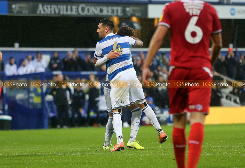 Grant Hall of Queens Park Rangers  celebrates during Queens Park Rangers vs Middlesbrough, Sky Bet EFL Championship Football at Loftus Road Stadium on 9th November 2019