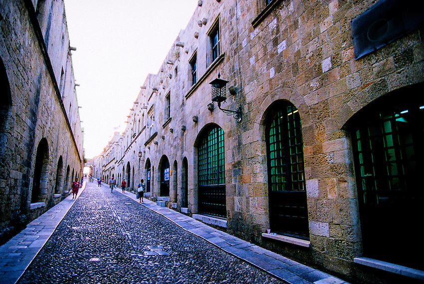 Street of the Knights, Old Town, Rhodes Town, island of Rhodes (Rodos), Dodecanese, Greece