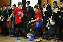 The Ambience Shot, MARCH 5, 2015 : Tokyo 2020 Organising Committee holds a promotion event for the Tokyo 2020 Paralympic games at Tokyo International School in Tokyo, Japan. This event took place 2000 days before the Tokyo 2020 Paralympic games. (Photo by Yusuke Nakanishi/AFLO SPORT)