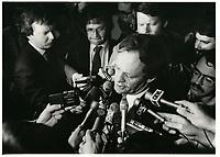 Jean Chretien le 27 avril 1984<br /> <br /> <br /> PHOTO :  Agence Quebec Presse