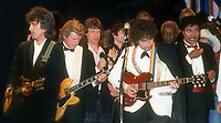 George Harrison Mick Jagger Bob Dylan Little Richard 1988<br /> Rock and Roll Hall of Fame<br /> Photo By John Barrett/PHOTOlink