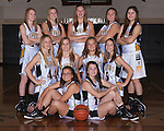 November 9, 2014- Tuscola, IL- The 2014-2015 Tuscola Girls Junior Varsity basketball team. Back row from left are Logan Hale, Emma Henderson, Cassie Russo, Ellen Brown, and Tori Wasilowski. Middle row from left are Ashtyn Clark, Ashley Bartley, Morgan Stewart, and Gemini Pettry. Front row are Machenzie Stewart and Alexis Koester. [Photo: Douglas Cottle]