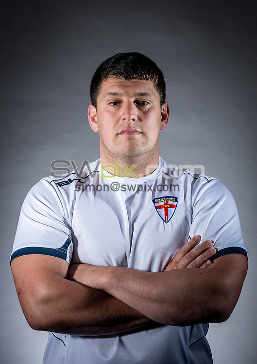 Picture by Allan McKenzie/SWpix.com - 29/06/16 - Rugby League - England Rugby League Academy Headshots - Challenge4Change, Manchester, England - Matthew Peet.