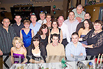 Jingle Bells - Staff from Tralee Fire Station pictured having a wonderful time at their Christmas Party held in The Ballyroe Heights Hotel on Friday night. Seated l/r Cathy Whyte, Norma Walsh, John O'Donnell (Chief Fire Officer) and Nathan Tadier, standing l/r Mossie & Kate Griffin, Tommy Kelleher, Paul Rush, Christine Kelleher, Mags Hogan, P.J. O'Dowd, Dave Hogan, Brian McKivergan, Bill & Sinead Lawlor and Alice O'Sullivan...................................................................................................................................................................................................................................................................................... ............