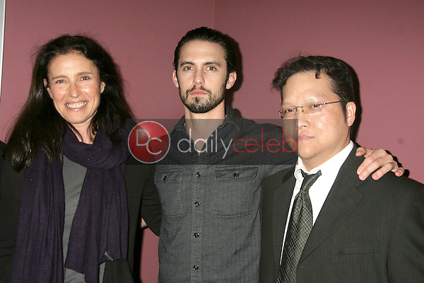 """Mimi Rogers, Milo Ventimiglia and Gregory Hatanaka<br /> at the """"Order Of Chaos"""" Los Angeles Premiere Hosted By Cinema Epoch, Laemmle's Sunset 5, West Hollywood, CA. 02-12-10<br /> David Edwards/Dailyceleb.com 818-249-4998"""