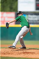 Savannah Sand Gnats starting pitcher Ricky Knapp (11) in action against the Hickory Crawdads at L.P. Frans Stadium on June 14, 2015 in Hickory, North Carolina.  The Crawdads defeated the Sand Gnats 8-1.  (Brian Westerholt/Four Seam Images)