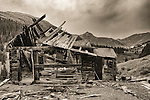 Mining ruins at ghost town of Animas Forks, Colorado