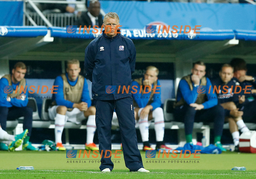 Iceland coach Lars Lagerback / Heimir Hallgrimsson <br /> Paris 03-07-2016 Stade de France Football Euro2016 France - Iceland / Francia - Islanda Quarter finals <br /> Foto Matteo Ciambelli / Insidefoto