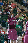 Arkansas Little Rock Trojans guard Kemy Osse (5) in action during the game between the Arkansas Little Rock Trojans and the North Texas Mean Green at the Super Pit arena in Denton, Texas. UALR defeats UNT 62 to 57...