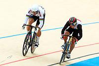Picture by Alex Whitehead/SWpix.com - 10/12/2017 - Cycling - UCI Track Cycling World Cup Santiago - Velódromo de Peñalolén, Santiago, Chile - Russia's Denis Dmitriev defeats Japan's Tomoyuki Kawabata in the Men's Sprint semi-finals.