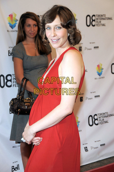 "VERA FARMIGA .""Nothing But The Truth"" Premiere held at the Roy Thomson Hall during the 33rd Annual Toronto International Film Festival, Toronto, Ontario, Canada, 08 September 2008..half length red dress long maxi pregnant .CAP/ADM/BPC.©Brent Perniac/Admedia/Capital Pictures"
