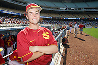 February 28 2010: Shane Boras of USC during game against UCLA at Dodger Stadium in Los Angeles,CA.  Photo by Larry Goren/Four Seam Images