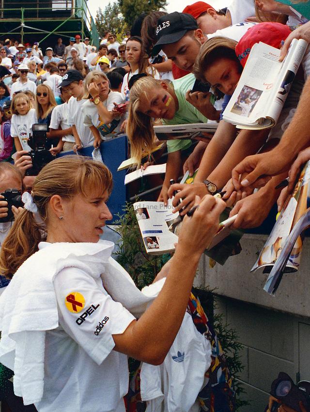 Photo. Steve Holland.Australian Open at Melbourne. 1993..Steffi Graf