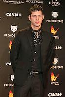 Eduardo Casanova attends the Feroz Cinema Awards 2015 at Las Ventas, Madrid,  Spain. January 25, 2015.(ALTERPHOTOS/)Carlos Dafonte) /NortePhoto<br /> <br /> nortePhoto.com