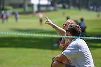 A father points out an approach shot to his young daughter on 1 during round 4 of the U.S. Women's Open Championship, Shoal Creek Country Club, at Birmingham, Alabama, USA. 6/3/2018.<br /> Picture: Golffile | Ken Murray<br /> <br /> All photo usage must carry mandatory copyright credit (&copy; Golffile | Ken Murray)