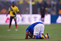 Action photo during the match Ecuador vs Haiti at MetLife Stadium Copa America Centenario 2016. ---Foto  de accion durante el partido Ecuador vs Haiti, En el Estadio MetLife Partido Correspondiante al Grupo - B -  de la Copa America Centenario USA 2016, en la foto: Jean Eudes Maurice<br /> <br /> -- 12/06/2016/MEXSPORT/Javier Ramirez.