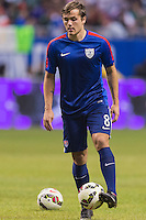 United States' forward Jordan Morris (8) warms up before an international friendly at the Alamodome, Wednesday, April 15, 2015 in San Antonio, Tex. (Mo Khursheed/TFV Media via AP Images)