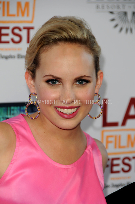 WWW.ACEPIXS.COM . . . . .  ....June 26 2011, Los Angeles....Actress Meaghan Martin arriving at the 2011 Los Angeles Film Festival Closing Night Premiere 'Dont Be Afraid Of The Dark' at Regal Cinemas L.A. Live on June 26, 2011 in Los Angeles, California. ....Please byline: PETER WEST - ACE PICTURES.... *** ***..Ace Pictures, Inc:  ..Philip Vaughan (212) 243-8787 or (646) 679 0430..e-mail: info@acepixs.com..web: http://www.acepixs.com