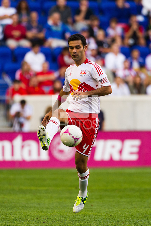 Rafa Marquez (4) of the New York Red Bulls. The Chicago Fire defeated the New York Red Bulls 2-0 during a Major League Soccer (MLS) match at Red Bull Arena in Harrison, NJ, on October 06, 2012.