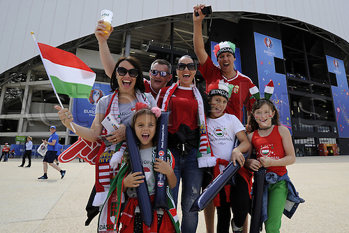 18.06.2016, Stade Velodrome, Marseille, FRA, UEFA European football Championships Group F. Iceland versus Hungary. Hungarian Supporters