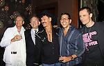 Randy Jones (Village People) and husband Will Grega and actor Keith Collins celebrate their marriage (this morning September 13, 2013) with a celebration at the 13th Annual Kings & Cowboys at DL in New York City, New York. Randy is also celebrating his birthday.  (Photo by Sue Coflin/Max Photos)