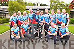 The Free Wheelers cyclists who will be cycling from Killarney to Belfast on Friday to help raise funds for Crumlin Childrens Hospital front row l-r: Padraig Cashman, Gerard Lynch, Ciaran O Muircheartaigh, Billy Joy. Back row: John Falvey, Tim O'Leary, Jimmy Kelly, Mike Power, Rory Darcy, Tim Clifford, Mike O'Donoghue, Padraig Dineen, Denis Murphy and Sean Moynihan