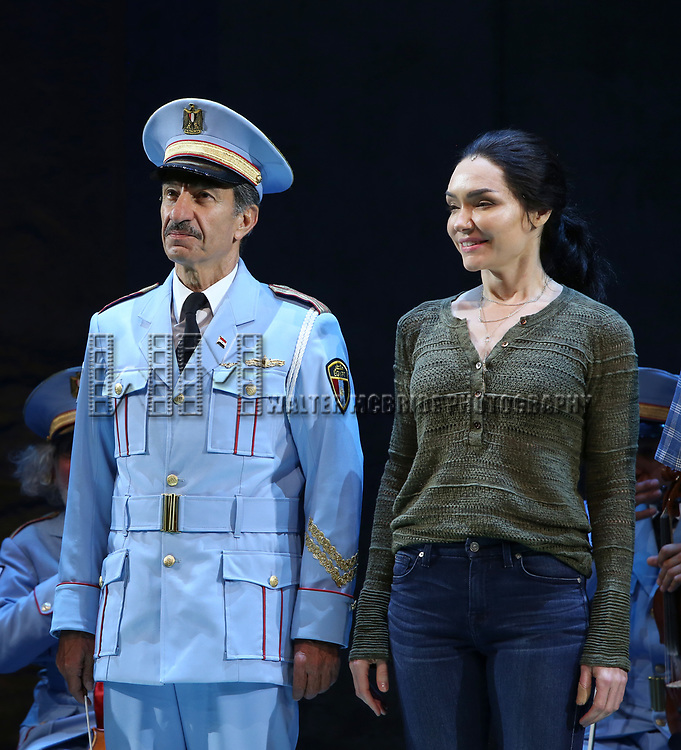 Samson Gabay joins Katrina Lenk and the cast of 'The Band's Visit'  at the Barrymore Theatre on June 27, 2018 in New York City.