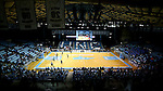 28 December 2016: A wide shot of the interior of Carmichael Arena during the first half. The University of North Carolina Tar Heels hosted the Coppin State University Eagles at Carmichael Arena in Chapel Hill, North Carolina in a 2016-17 NCAA Women's Basketball game. UNC won the game 90-55.