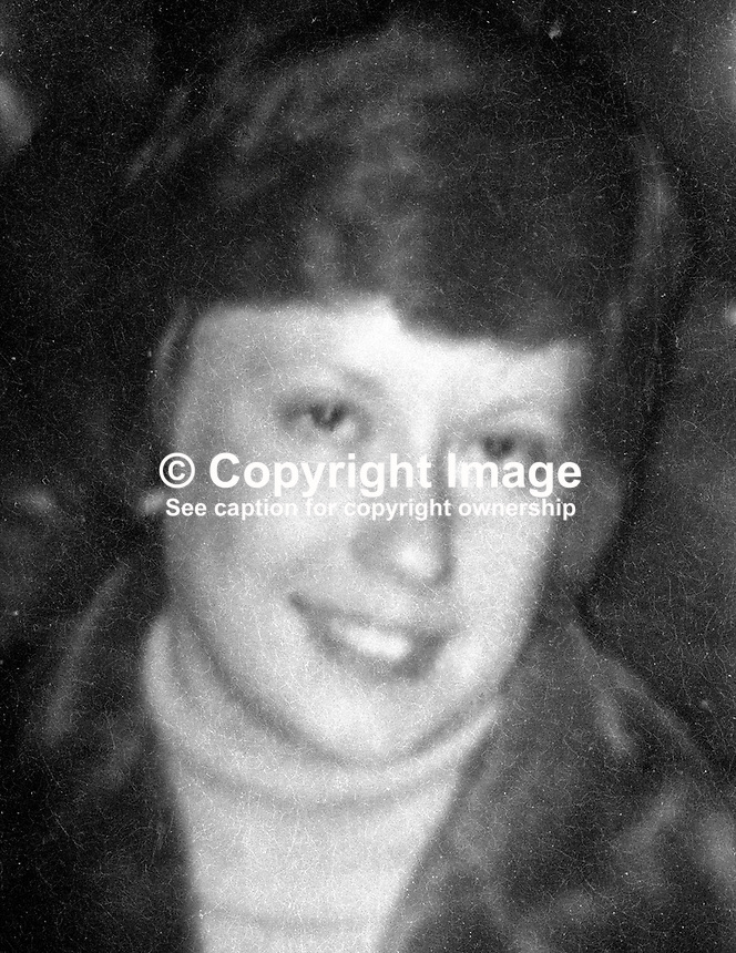 Doris Gillespie, double killing victim in Holywood, Co Down, N Ireland, 4th January 1975. See also Commander Ronald Kerans. 19750104005DG.<br />