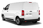 Car pictures of rear three quarter view of 2017 Citroen Jumpy Business 5 Door Cargo Van Angular Rear