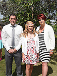 Tigan Tuohy who was confirmed in Holy Family Church Ballsgrove pictured with parents Shane and Denise. Photo:Colin Bell/pressphotos.ie