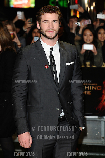 """Liam Hemsworth arriving for the World Premiere of """"The Hunger Games: Catching Fire"""" in Leicester Square, London. 11/11/2013 Picture by: Steve Vas / Featureflash"""