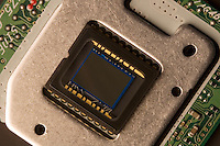 CHARGE COUPLED DEVICE<br /> (Variations Available)<br /> Image Sensor Used In Digital Imagery<br /> A CCD consists of an integrated circuit containing an array of linked, or coupled, light-sensitive capacitors.