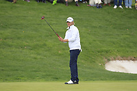 Henric Sturehed (SWE) on the 16th green during Round 4 of the Open de Espana 2018 at Centro Nacional de Golf on Sunday 15th April 2018.<br /> Picture:  Thos Caffrey / www.golffile.ie<br /> <br /> All photo usage must carry mandatory copyright credit (&copy; Golffile | Thos Caffrey)