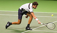 Rotterdam, The Netherlands, 14 Februari 2019, ABNAMRO World Tennis Tournament, Ahoy, quarter finals, doubles, Robin Haase (NED),<br /> Photo: www.tennisimages.com/Henk Koster