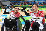 (L-R) Hidefumi Wakayama, Kazuhiko Kanno (JPN), <br /> SEPTEMBER 18, 2016 - WheelChair Rugby : <br /> 3rd place match Japan - Canada  <br /> at Carioca Arena 1<br /> during the Rio 2016 Paralympic Games in Rio de Janeiro, Brazil.<br /> (Photo by AFLO SPORT)