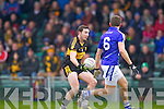 Daithi Casey of Dr Crokes and Michael Hawes of Cratloe in the AIB Munster Senior Football Final played last Sunday in The Gaelic Grounds, Limerick.