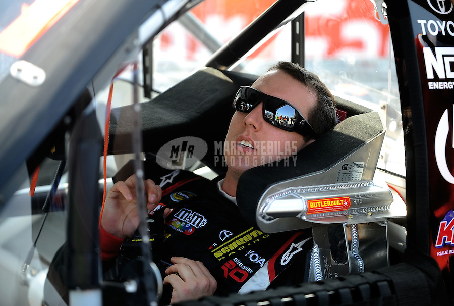 May 14, 2010; Dover, DE, USA; NASCAR Camping World Truck Series driver Kyle Busch during qualifying for the Dover 200 at Dover International Speedway. Mandatory Credit: Mark J. Rebilas-