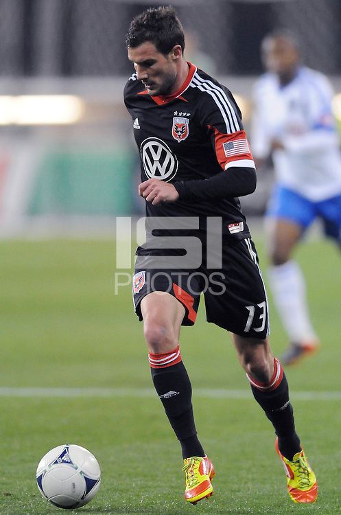 D.C. United forward Chris Pontius (13) D.C. United tied The Montreal Impact 1-1, at RFK Stadium, Wednesday April 18 , 2012.
