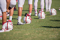 Stanford, Ca. - August 6, 2017: The Stanford Cardinal Football team during a pre-season practice.