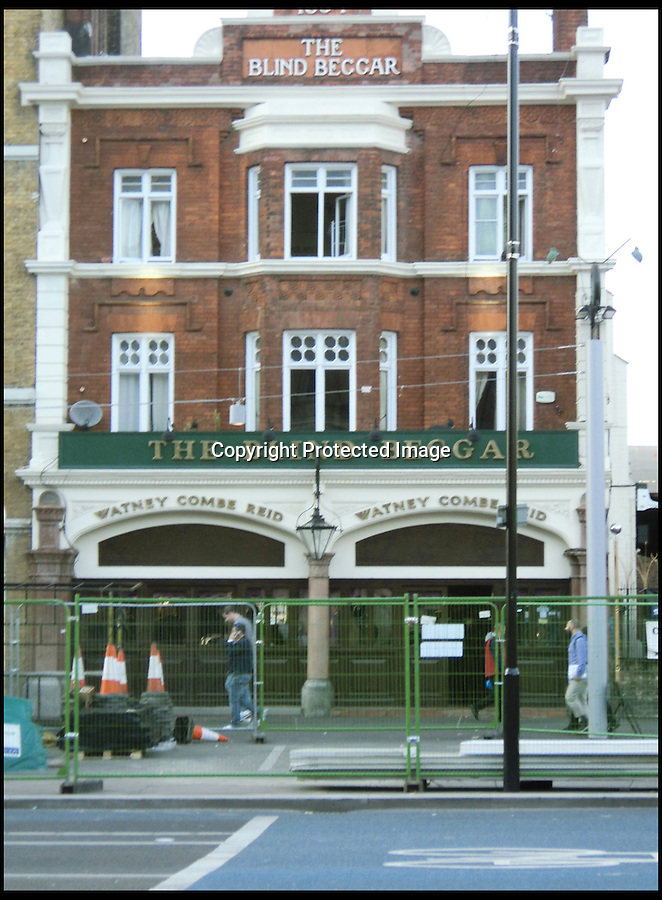 BNPS.co.uk (01202) 558833<br /> Picture: AmberleyPublishing/BNPS<br /> <br /> ****Please use full byline****<br /> <br /> The Blind Beggar where one of Kray twins' crimes took place.<br /> <br /> Even Kirsty and Phil would struggle to sell these houses...<br /> <br /> These London properties may appear to be nothing out of the ordinary, but their grisly past as blood-soaked crime scenes has now been revealed.<br /> <br /> In the late 19th and early 20th century the buildings were home to brutal murders carried out by jilted lovers, the clinically insane, and organised gangs.<br /> <br /> Despite their morbid history all of the houses still stand today - and are being lived in or are now takeaways, cafes, and restaurants.<br /> <br /> Dr Jan Bodenson has spent the last decade researching the horrendous histories of the buildings and has now unveiled his findings in a new book.