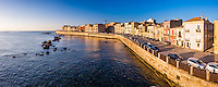 Panoramic photo of Ortigia Island at sunrise, Syracuse (Siracusa), Sicily, Italy, Europe. This is a panoramic photo of Ortigia Island at sunrise, Syracuse (Siracusa), Sicily, Italy, Europe.